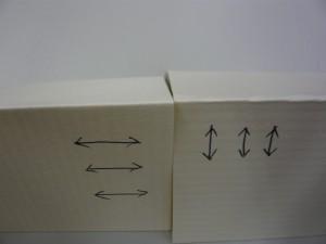 紙の模様と反対に目が通っているものもあります
